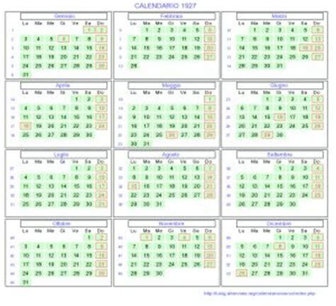 Calendario De 1929 Calendario 1927 Da Stare Con Festivit E Fasi