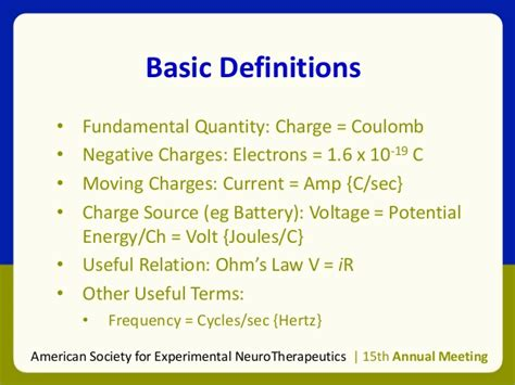 Mba Basic Terms by Intro To Neurostimulation Asent Feb 28 2013