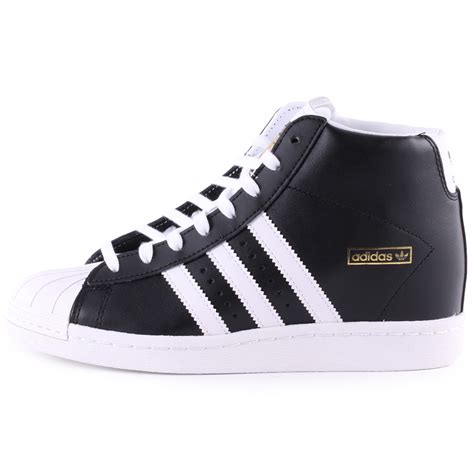 adidas superstar up womens leather black white trainers
