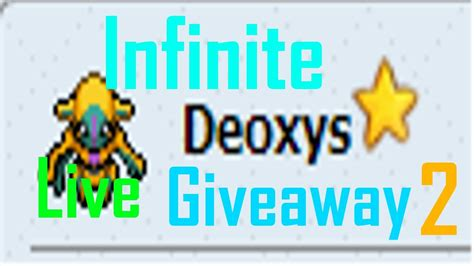 Pokemon Live Giveaway - pokemon tower defense shiny deoxys live giveaway 2 youtube