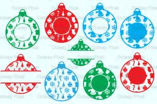 christmas ornament monogram frames svg cricut ornaments