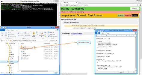 node js karma tutorial node js karma end to end testing failed to proxy app