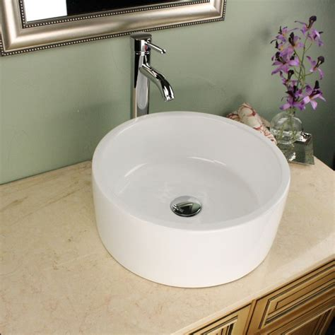 16 inch bathroom sink highpoint collection white 16 inch ceramic bathroom
