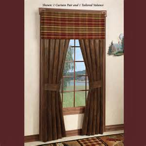 Rustic Window Curtains Montana Morning Rustic Window Treatment