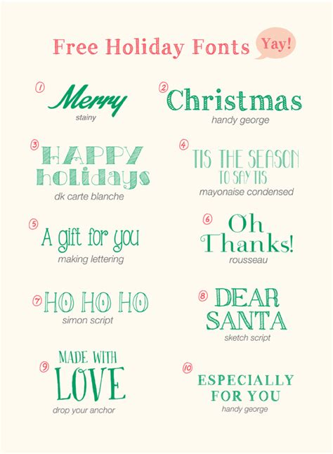 hello 10 free holiday fonts