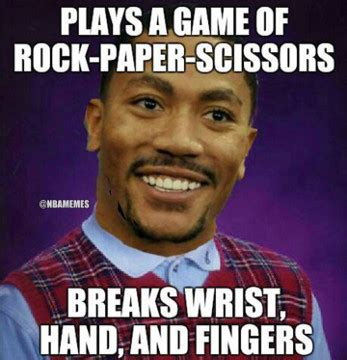 Derek Rose Meme - derrick rose s injuries illustrated by 7 hilarious nba