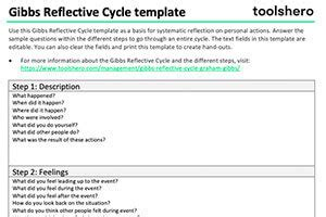 Gibbs Reflective Cycle Learning Through Personal