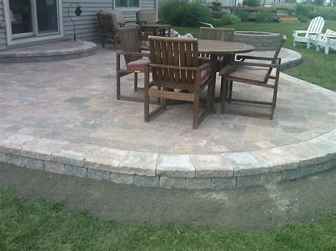 raised patio pavers simple paver patio home design roosa