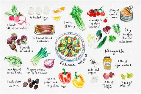 illustration cuisine iveta karpathyova studio postcards for a