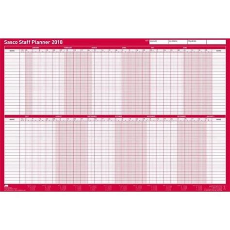Packing Benches Uk Sasco 2018 Staff Planner Mounted