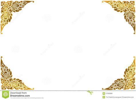 Traditional Thai Golden Frame Stock Photo   Image: 27900680