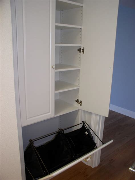 Removable Closet Tilt Out Laundry Her With Removable Hanging Bags