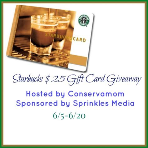 Starbucks Gift Card Coupon - win a 25 starbucks gift card ends 6 20