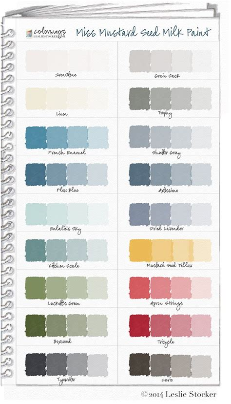 colorways with leslie stocker 187 colorways miss mustard seed milk paint color swatch book