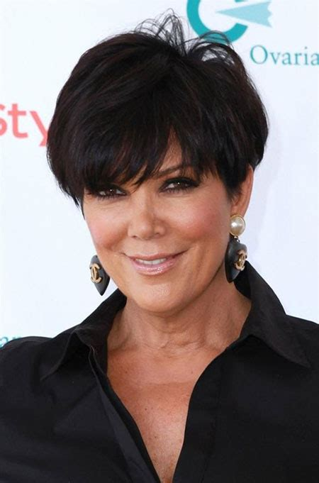 kris kardashian haircolor celebrities with short haircuts 2013 2014 short