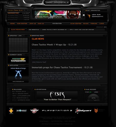 website templates for gaming clans imr clan gaming site layout by immortalmedia on deviantart