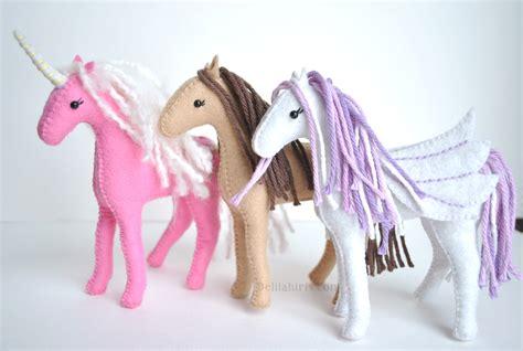 felt pattern unicorn felt horse pattern sew your own unicorns horses and
