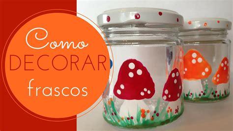 imagenes para pintar frascos de vidrio frasco de vidrio pintado con esmalte de u 241 as youtube
