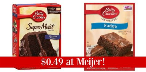 meijer betty crocker brownie  cake mix     coupon queen