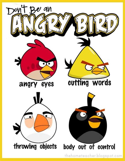 dont be an angry bird lessons on anger management for don t be an angry bird free printables great idea uses