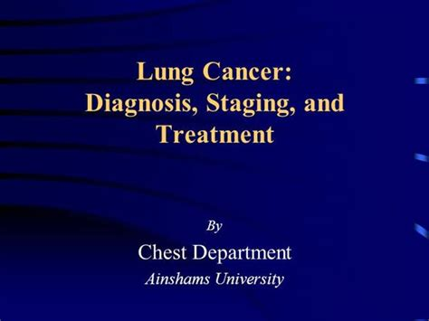 Lung Cancer Authorstream Lung Cancer Ppt Templates Free