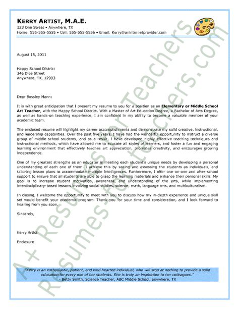 teachers cover letter sample secondary teacher cover letter sample