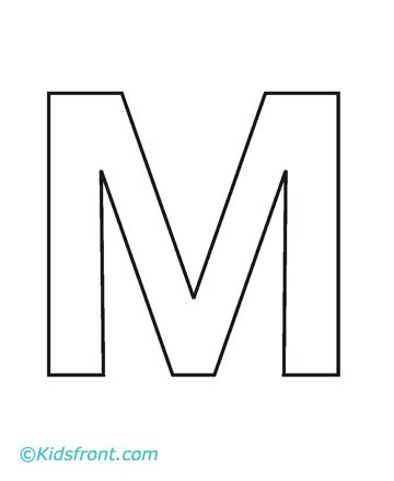 Alphabet M Coloring Page To Print Alphabet M Coloring Pages Letter M Coloring Page