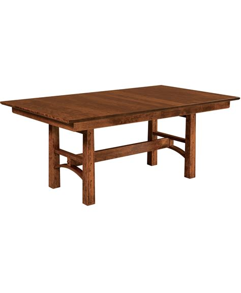 solid wood trestle table bridgeport trestle table amish direct furniture