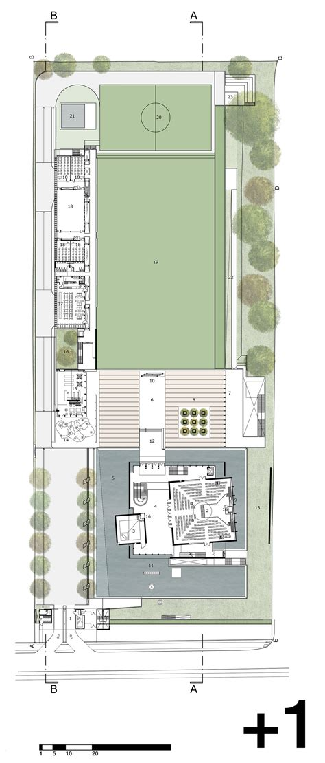 chilgrove business centre floor plan gallery of synagogue and community center c i s jba