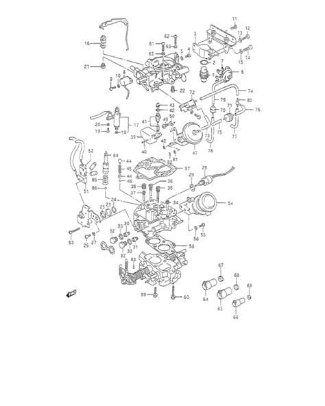 suzuki samurai carburetor diagram carburetor for 0 suzuki samurai sj413 u s a sales