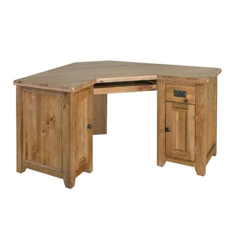rumi solid oak furniture office corner computer desk ebay
