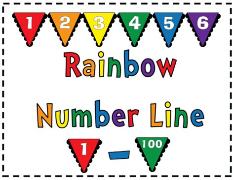 printable display number line to 100 8 best images of colorful printable numbers 1 31