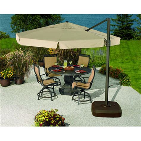 Overhang Patio Umbrella Living Home 11 Ft Led Light Umbrella Replacement Canopy Garden Winds