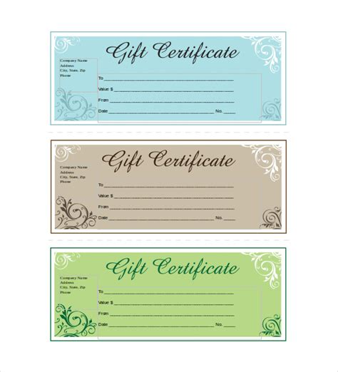free gift certificate template templates franklinfire co