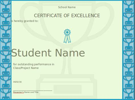 microsoft certificate of excellence about certificates of
