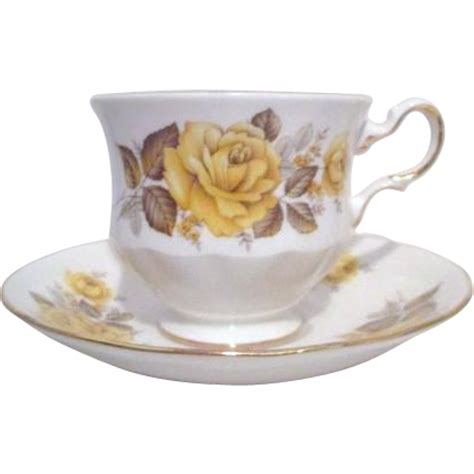 yellow rose pattern china queen anne china pattern 8616 yellow rose cup and saucer