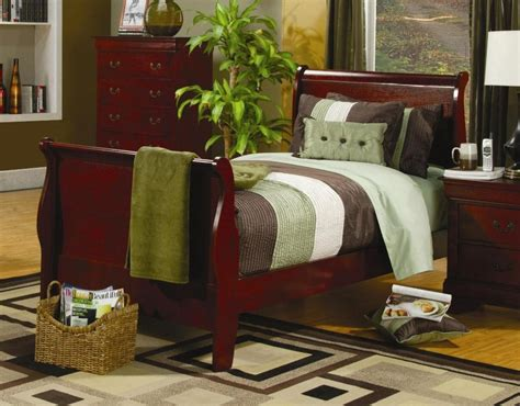 Louis Philippe Sleigh Bed Louis Philippe Cherry Sleigh Bed 200431t From Coaster 200431t Coleman Furniture