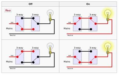 hook up three way electrical switch