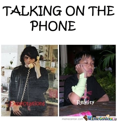 Talking On The Phone Meme - talking on the phone by syehfuckinway meme center