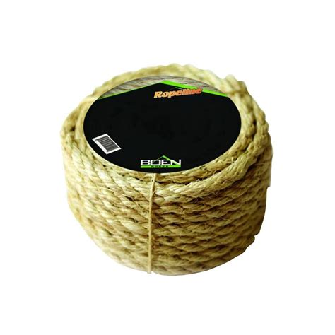 boen 1 2 in x 100 ft 3 strand twisted sisal rope
