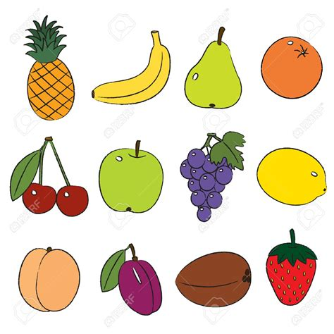frutta clipart fruit clipart food pencil and in color fruit