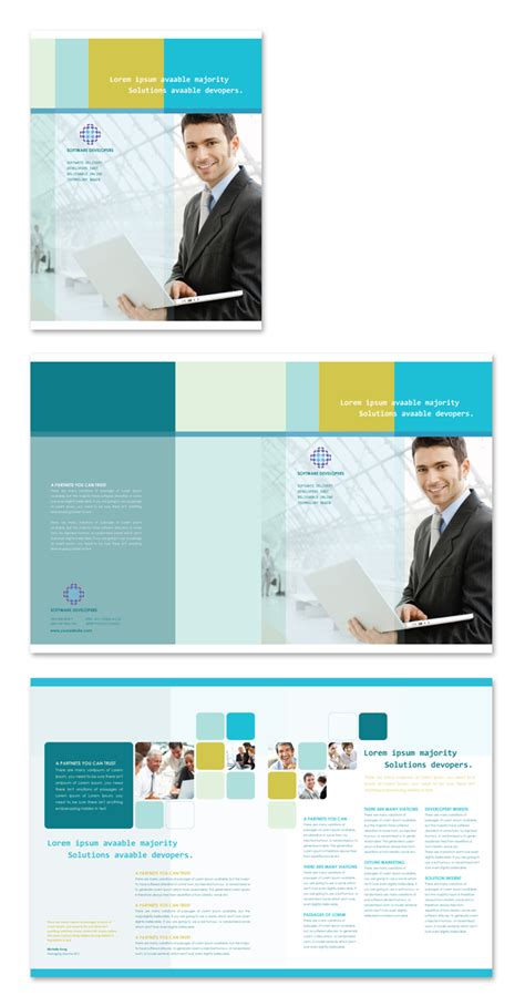 software brochure template software developers brochure template