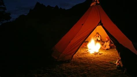 should the tent be burning like that a professional ã s guide to the outdoors books cing tent fireplace fireplaces