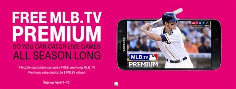 mlb tv apk apk magic deal alert t mobile s free mlb tv premium membership promotion now live sign up