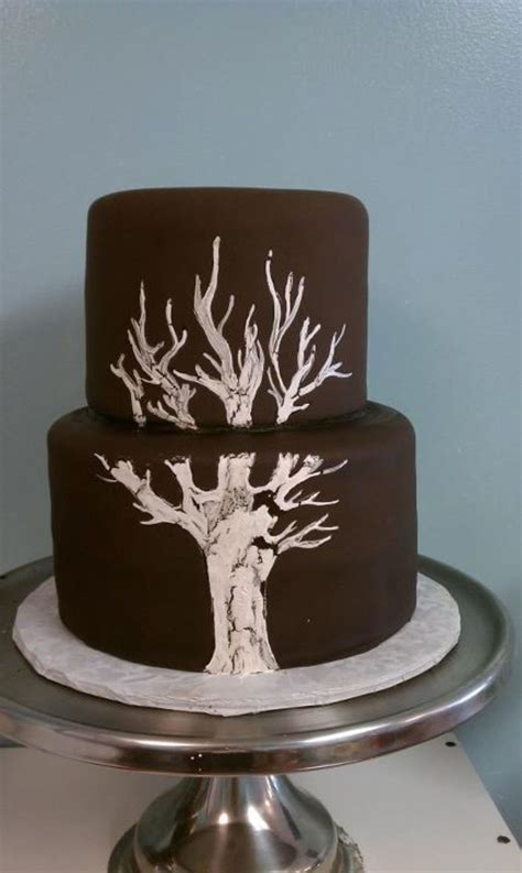 tree themed wedding cake cakecentral