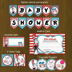 dr seuss printable baby shower package cat in a hat baby