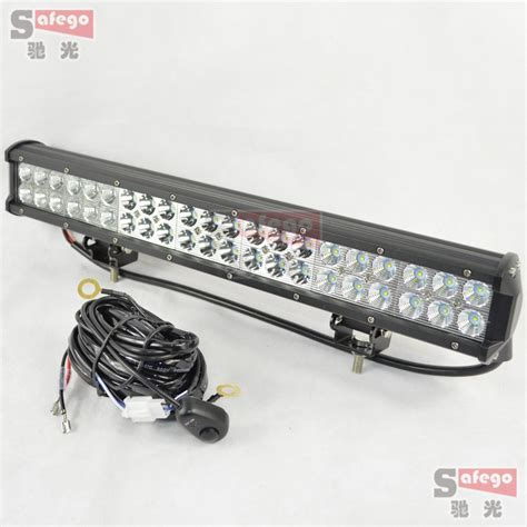 Led Light Bars On Trucks 1pcs 20 Cree Led 126w Combo Led Work Light Bar With Wiring Kit For Truck Trailer 4x4 Cree Led
