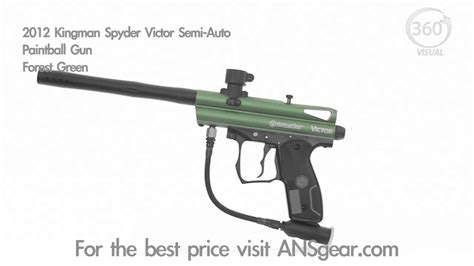 2012 kingman spyder victor semi auto paintball gun