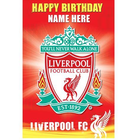 printable liverpool birthday invitations liverpool fc birthday card crest design liverpool fc
