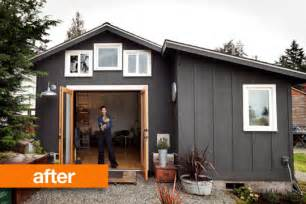 Small Garage Apartments by Before Amp After Gorgeous Garage Mini House In Seattle